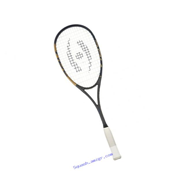 Harrow 65910417 2016 Vibe Squash Racquet, Jonathon Power Signature Edition, Navy/Vegas Gold
