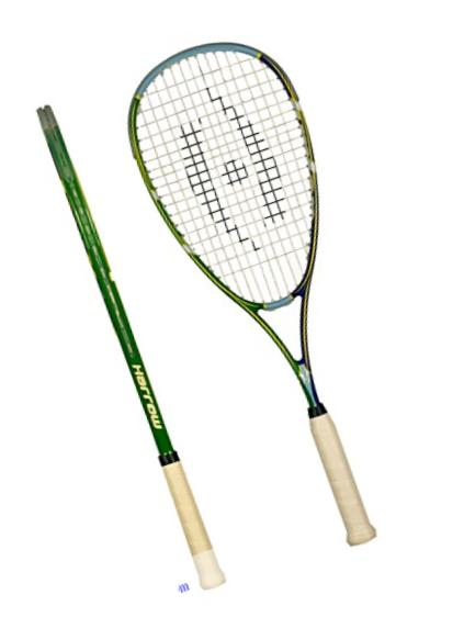 Harrow 65812806 Junior Squash Racquet, with 1/2 Cover, Kelly Green/Royal